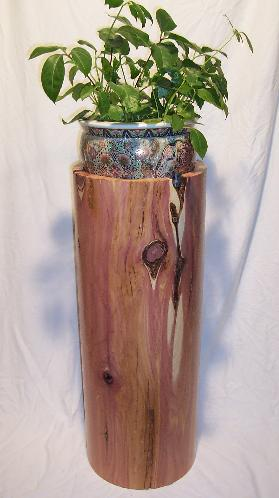 Solid Red Cedar cylinder can be used as a planter, sculpture pedestal, coffee tablewith a round piece of glass on top, furniture, etc.