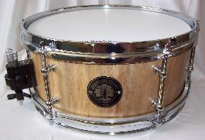 Solid hollowed log paradox walnut snare drum