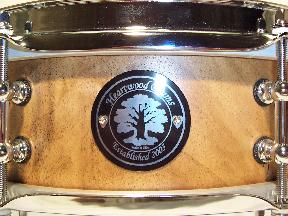 solid hollowed lathed Siberian Elm wood snare drum